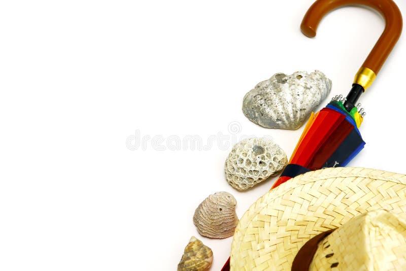 Комплект пляжа лета стоковое изображение