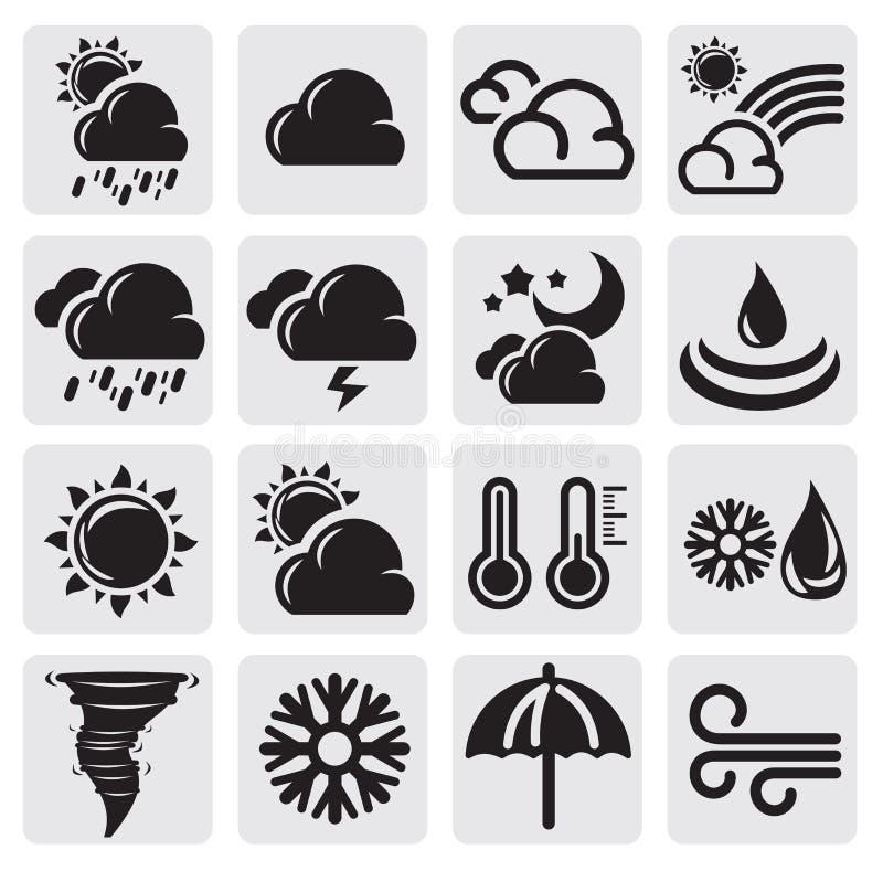 Комплект погоды иллюстрация штока