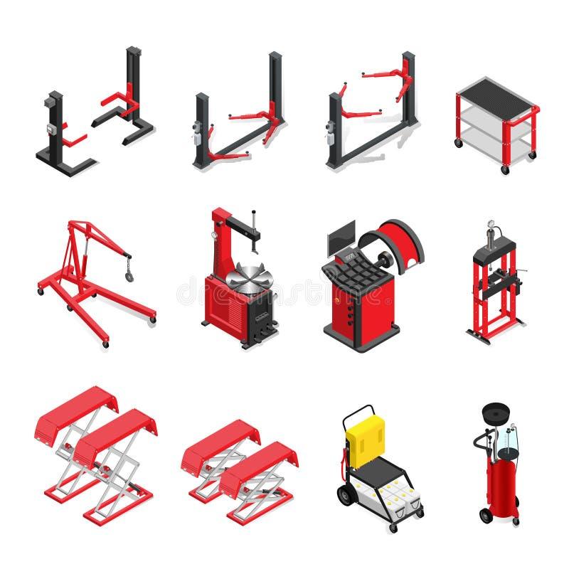 Комплект, подъемы и механизмы оборудования Autoservice для работы в магазине тела бесплатная иллюстрация