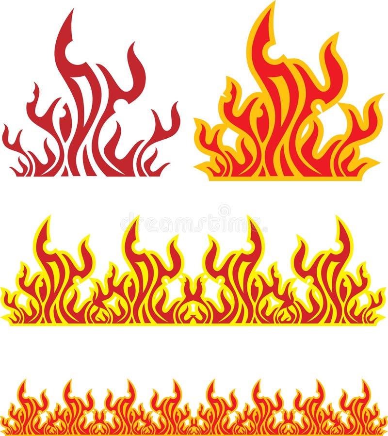 Комплект пожара иллюстрация штока