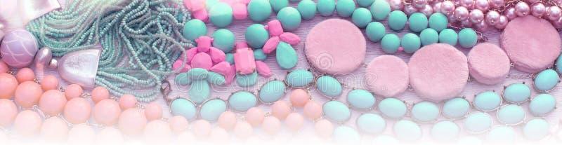 Комплект предпосылки знамени ювелирных изделий, ожерелья, браслетов, шарфа иллюстрация штока