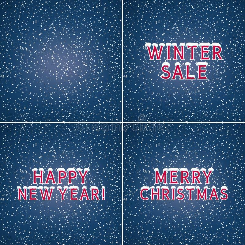 Комплект предпосылок зимы праздника бесплатная иллюстрация