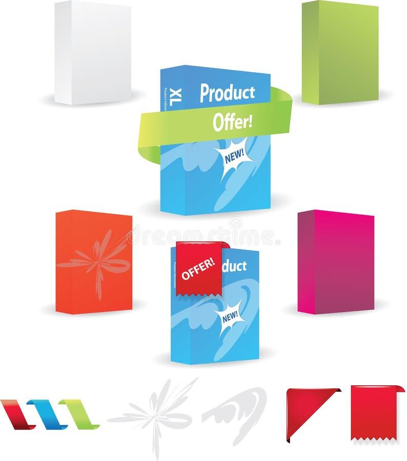 комплект продукта конструкции коробки иллюстрация штока