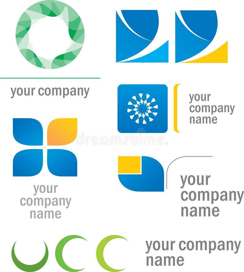 комплект прототипа логосов иллюстрация штока
