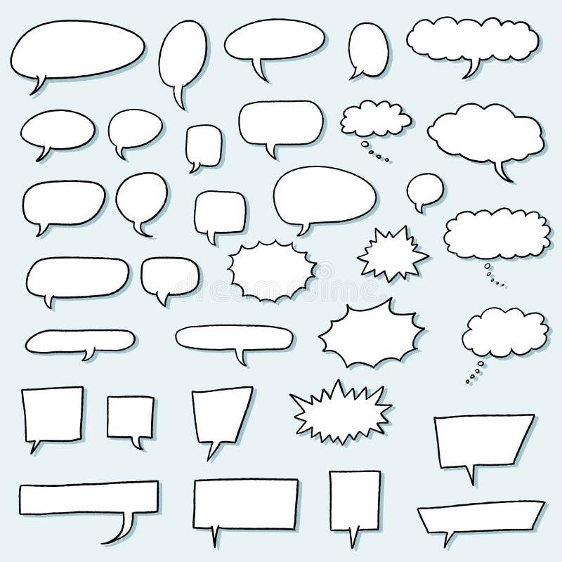 Комплект пузыря речи иллюстрация вектора