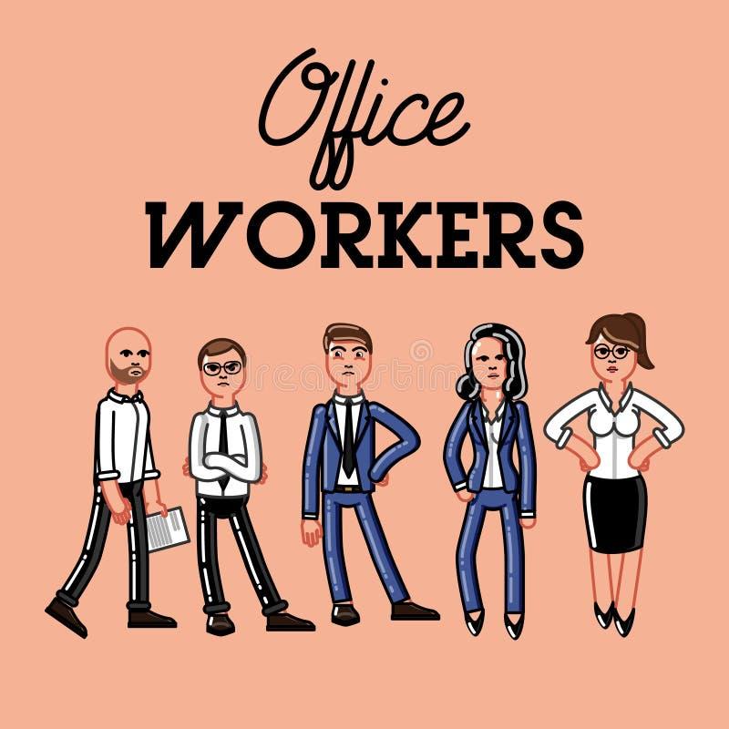 Комплект работника офиса иллюстрация вектора