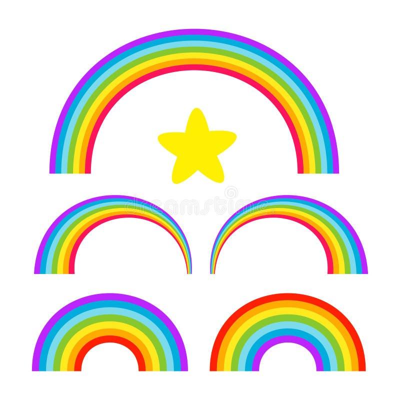 Комплект радуги иллюстрация штока