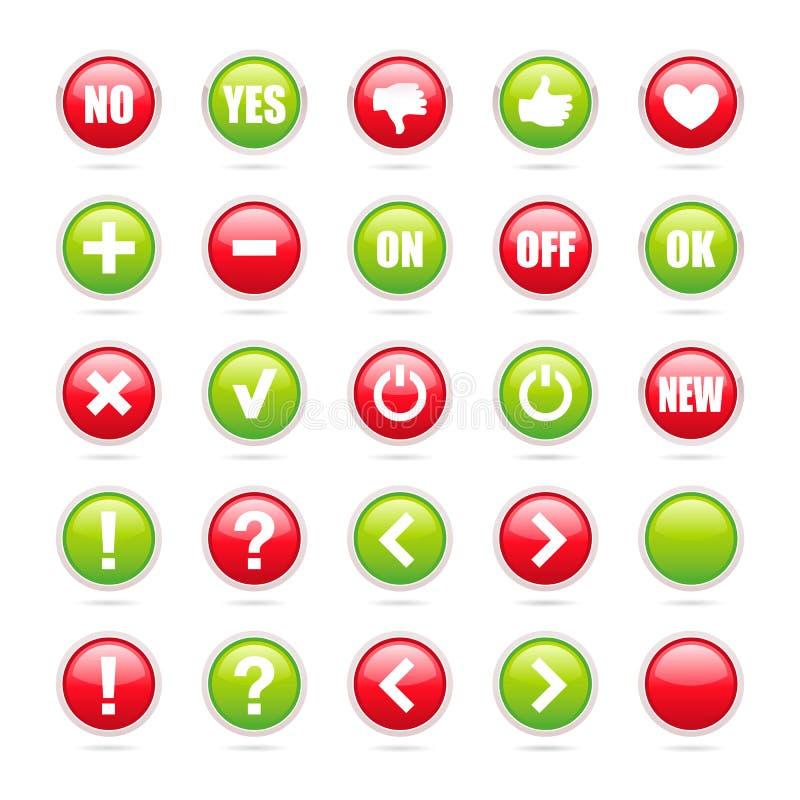 Комплект различных знаков - Vector вокруг значков иллюстрация штока