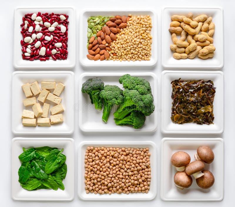 Комплект различных источников протеина vegan стоковое фото rf