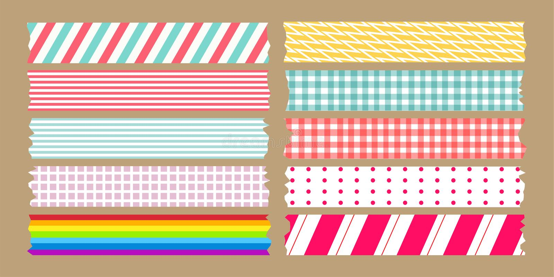 Комплект разнообразия ленты для маскировки бесплатная иллюстрация