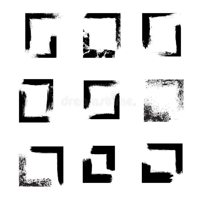 Комплект рамок grunge, верхних слоев предпосылки стоковое фото rf