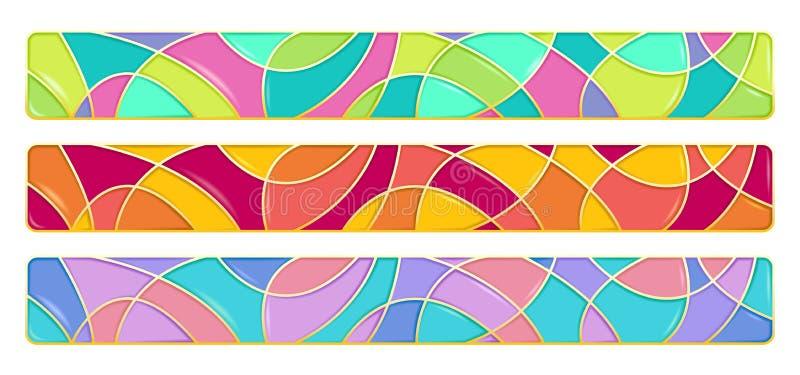 Комплект 3 реалистических элементов дизайна иллюстрация вектора