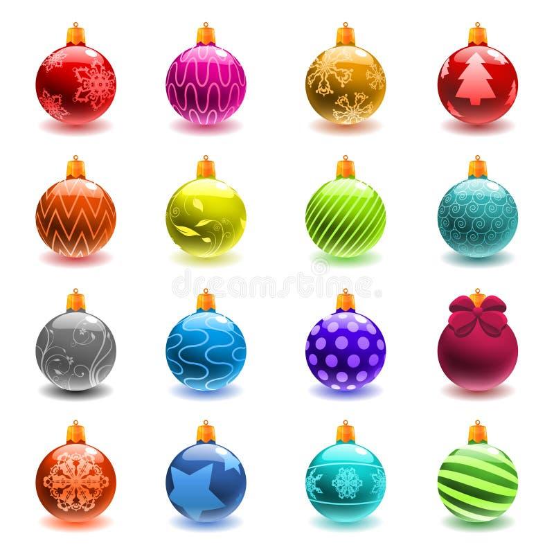 комплект рождества шарика бесплатная иллюстрация