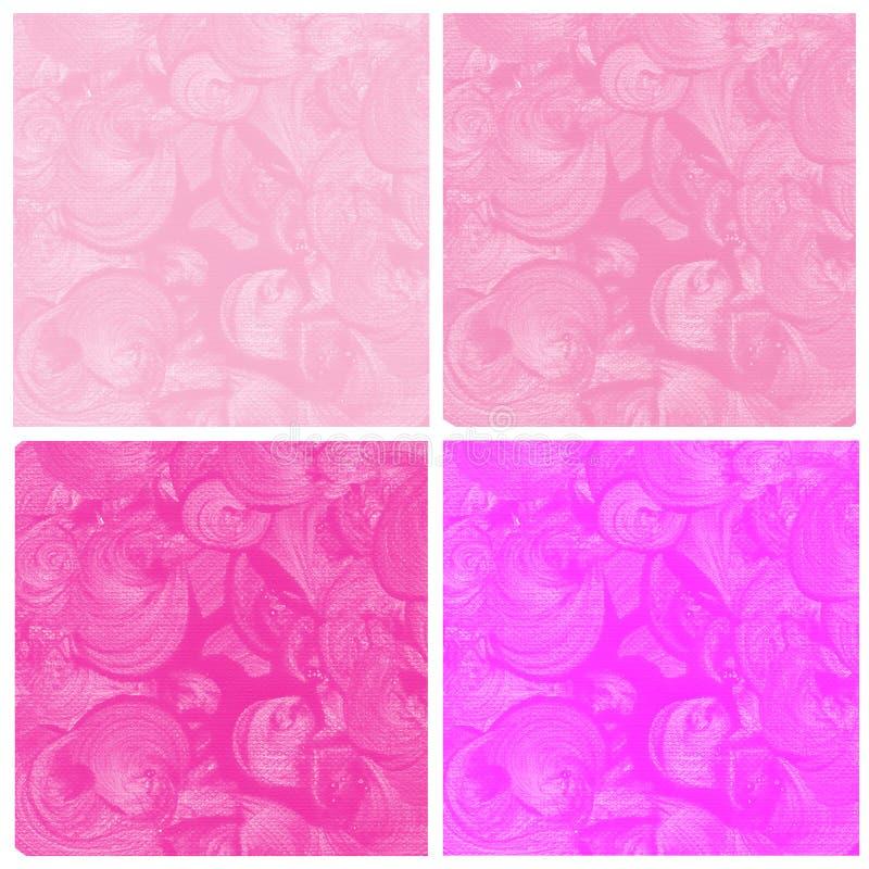 Комплект розовой покрашенной руки конспекта акварели бесплатная иллюстрация
