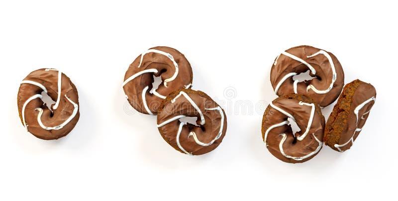 Комплект свеже испеченных donuts бесплатная иллюстрация