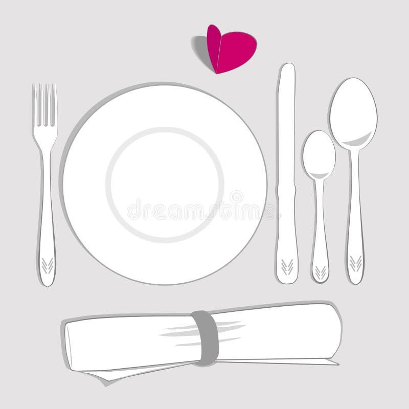 Комплект сервировки стола бесплатная иллюстрация