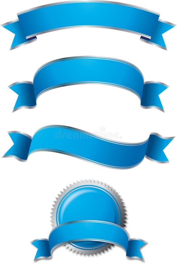 комплект сини знамени стоковое фото