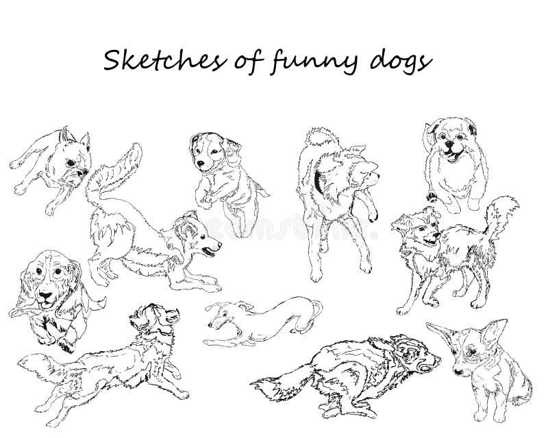 Комплект собаки бесплатная иллюстрация