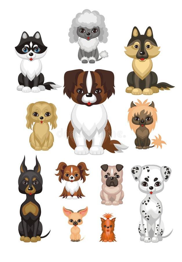 Комплект собак родословной бесплатная иллюстрация
