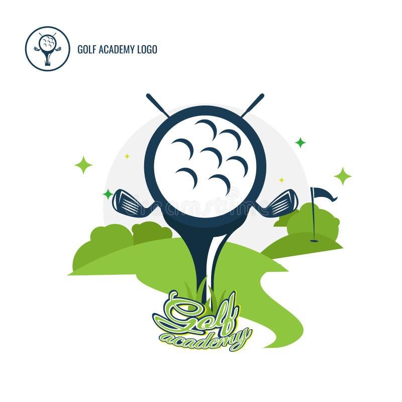 Комплект собрания дизайна логотипов гольф-клуба Freeform Нормальное peopl иллюстрация штока