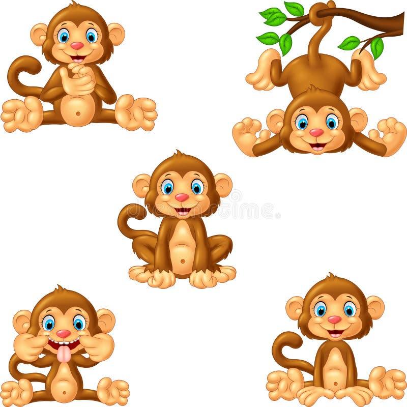 Комплект собрания обезьяны шаржа бесплатная иллюстрация