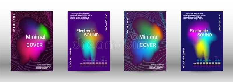 Комплект современных абстрактных музыкальных предпосылок иллюстрация штока