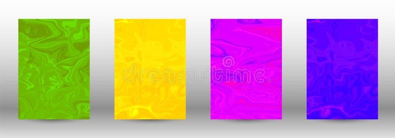 Комплект современных крышек абстрактная мраморная картина иллюстрация штока