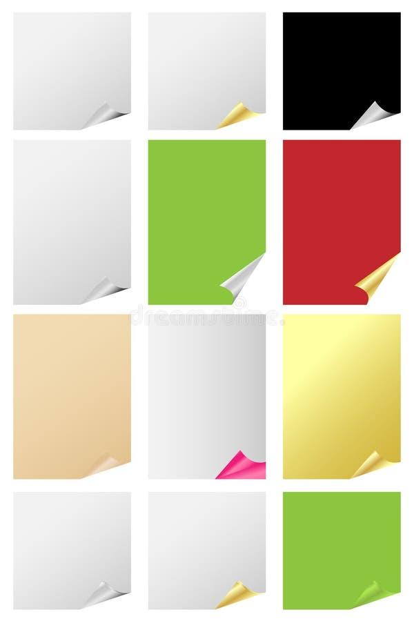 комплект страницы скручиваемости бесплатная иллюстрация