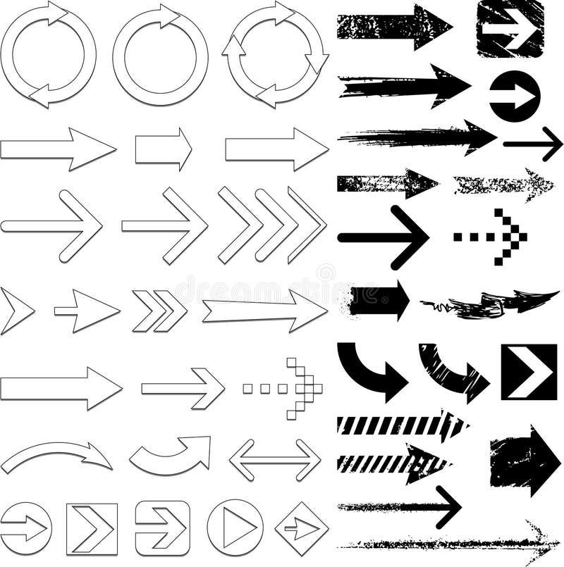 комплект стрелки иллюстрация вектора