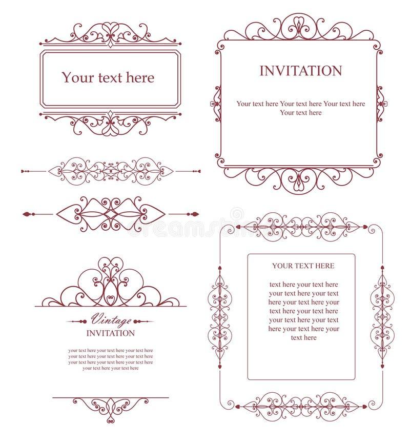 Комплект творческих шаблонов вектора для логотипов, ярлыка или знамен на теме качества и дела в винтажном стиле иллюстрация штока