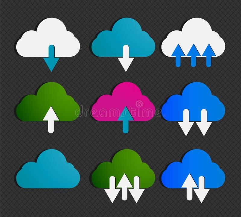 Комплект технологии облака иллюстрация вектора