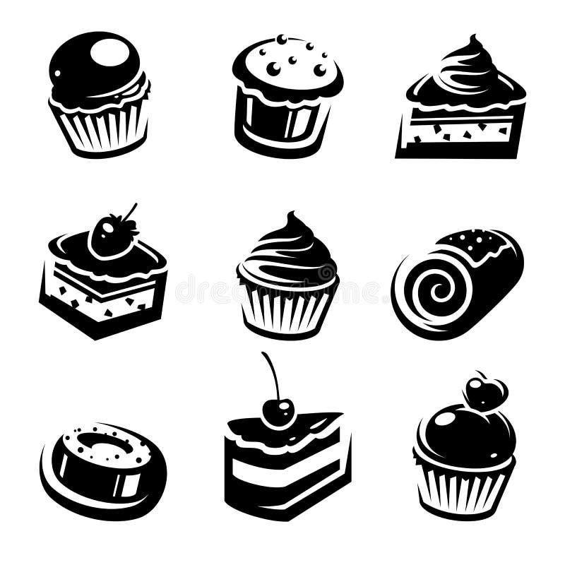 Комплект торта. Вектор иллюстрация штока