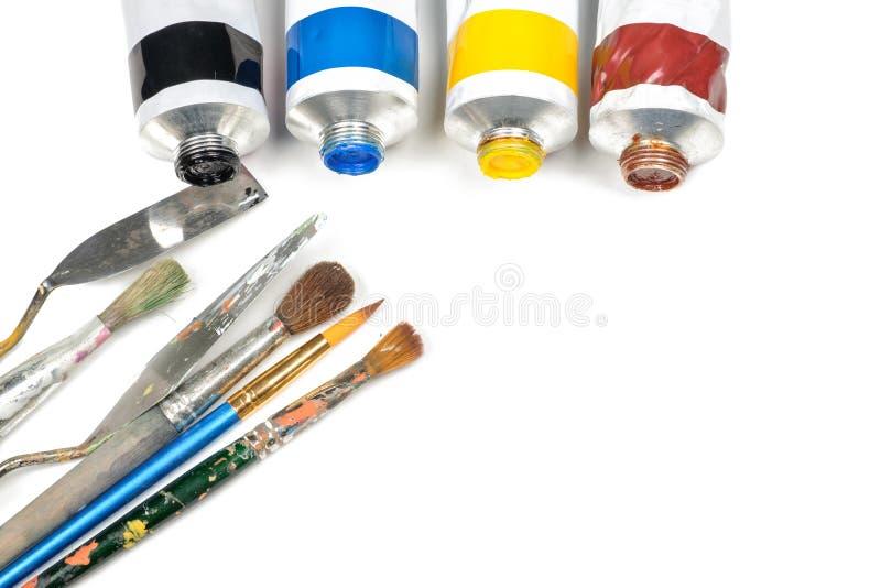 Комплект трубок краски масла стоковое изображение rf