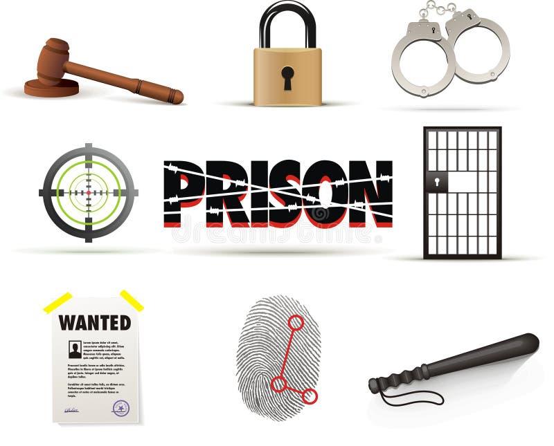 комплект тюрьмы иконы злодеяния бесплатная иллюстрация