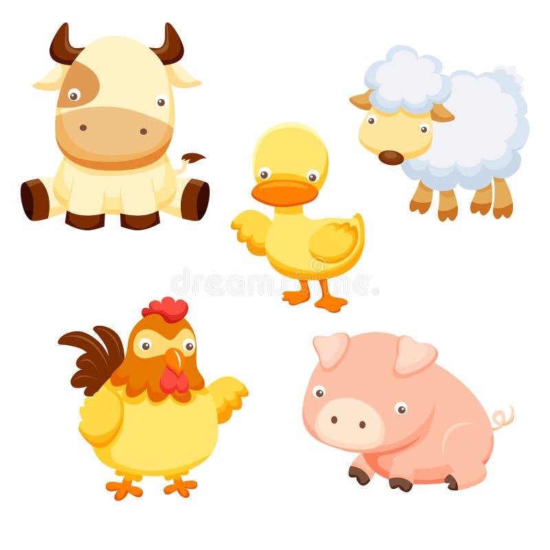 комплект фермы животных иллюстрация вектора