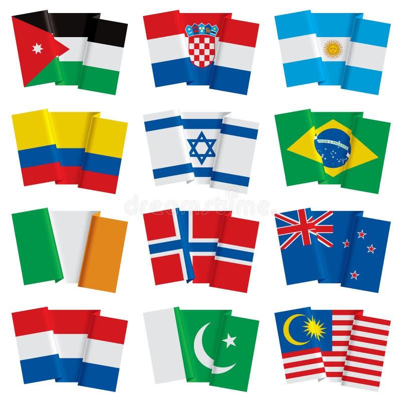 Комплект флагов мира бесплатная иллюстрация
