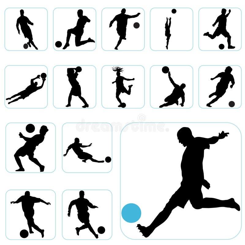 комплект футбола иллюстрация вектора