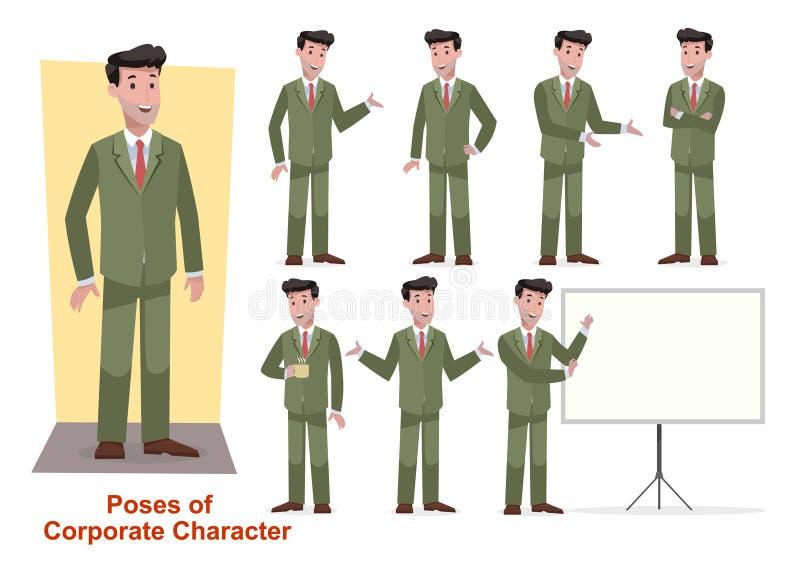 Комплект характера дела для офиса и корпоративное стоковые фото