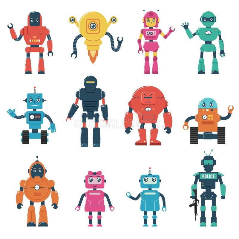 Комплект характеров робота иллюстрация вектора
