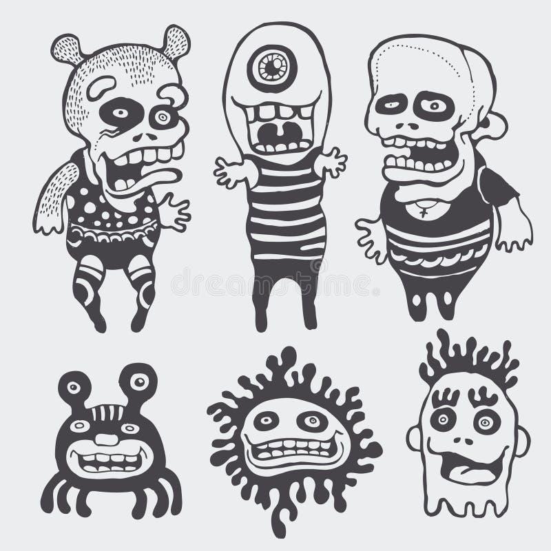 комплект характеров смешной иллюстрация штока