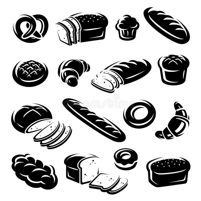 Комплект хлеба вектор бесплатная иллюстрация