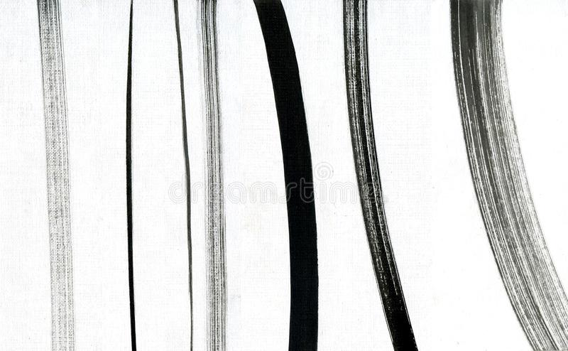 Комплект ходов щетки Линии собрание Grunge handmade Комплект черноты покрасил ходы щетки изолированный на белизне стоковые изображения