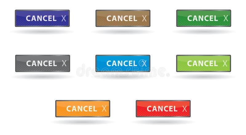комплект цвета cancel кнопки глянцеватый бесплатная иллюстрация