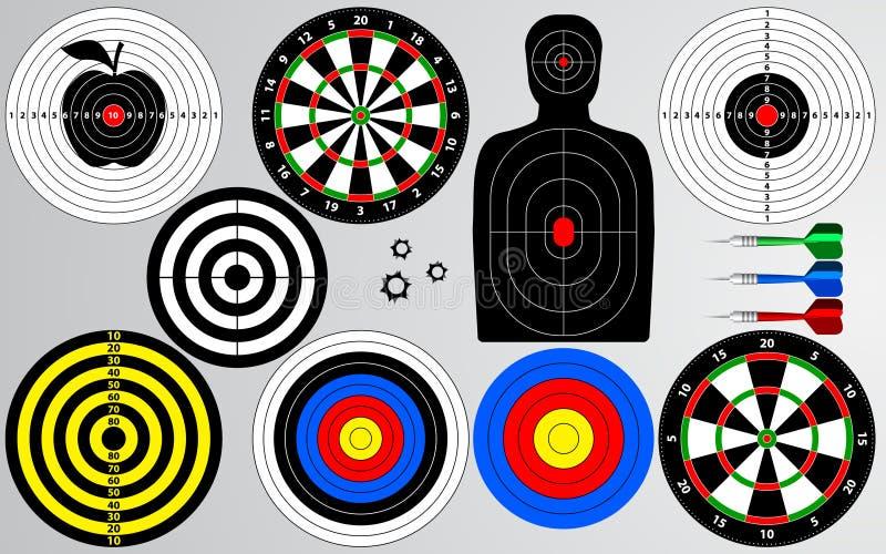Комплект цели, стрельбища иллюстрация вектора