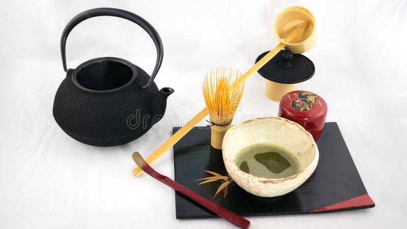 Комплект церемонии чая стоковые изображения rf