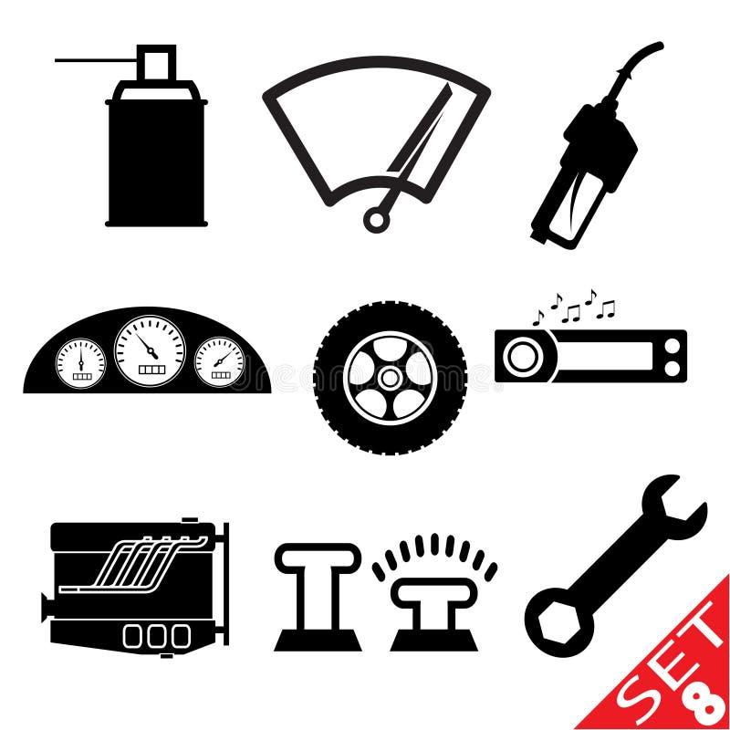 комплект части иконы 8 автомобилей бесплатная иллюстрация