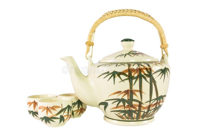 Комплект чая чашки сбора винограда стоковые фотографии rf