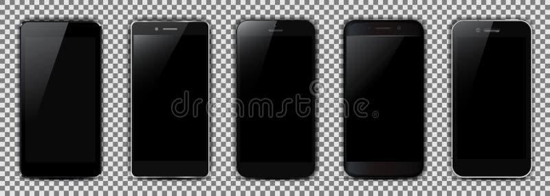 Комплект черного smartphone 5 бесплатная иллюстрация