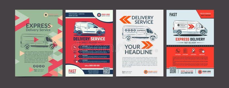 Комплект шаблона плана дизайна рогульки брошюры обслуживания срочной поставки стоковое изображение