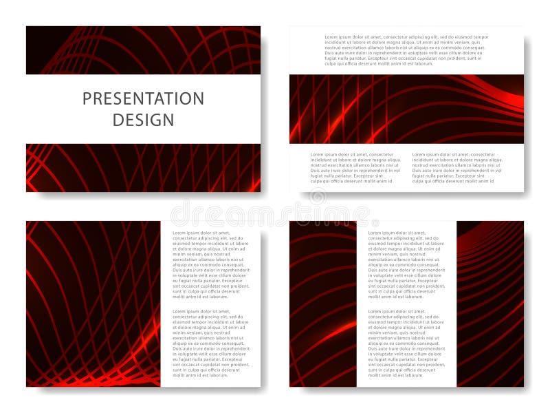 Комплект шаблонов дела для скольжений представления Красочный дизайн с предпосылкой конспекта волн красивой также вектор иллюстра иллюстрация вектора